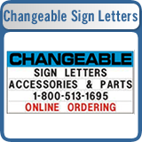 Changeable Sign Letters, Flex Letters, Rigid Letters, and Track