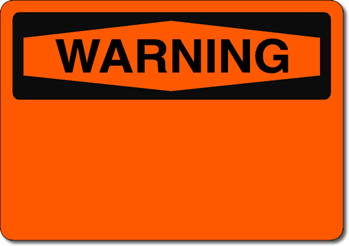 blank caution sign - photo #14