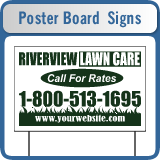 Wholesale Poster Board Yard Signs