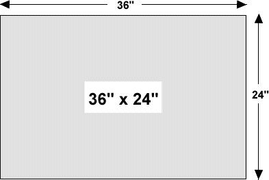 Wholesale Corrugated Plastic Yard Sign Blanks 36 X 24
