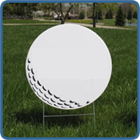 Golf Hole Sponsor Sign - Small Golf Ball - Blank - Outing Signs