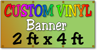 Custom Full Color Vinyl Banner 2ft x 4ft