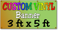 Custom Full Color Vinyl Banner 3ft x 5ft