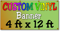 Wholesale Custom Full Color Vinyl Banner 4ft x 12ft