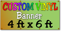 Custom Full Color Vinyl Banner 4ft x 6ft