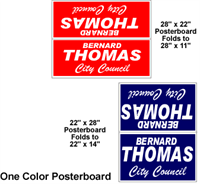 One Color - Poster Board Yard Signs, Weather resistant and lightweight