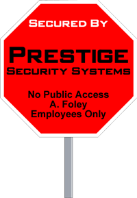 Wholesale Security Sign Octagon Shape - Two Color