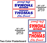 Two Color - Poster Board Yard Signs, Weather resistant and lightweight