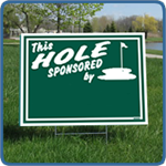 Golf Hole Sponsor Sign - Blank