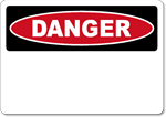 OSHA Danger - Stick on Vinyl Sign Blank - Wholesale OSHA Signs