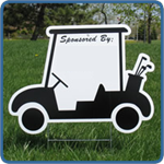 Golf Cart Sponsor Sign - Blank - Golf Outing Sponsor Signs