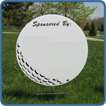 Golf Hole Sponsor Sign - Large Golf Ball - Blank - Golf Sponsor Sign