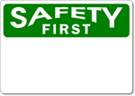 OSHA Safety First - Aluminum Sign Blank - Wholesale OSHA Signs