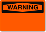 OSHA Warning - Aluminum Sign Blank - Wholesale OSHA Signs