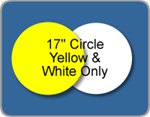 Wholesale Corrugated Plastic Circle (17'' Dia.) Yard Sign Blanks