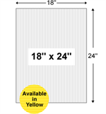 Corrugated Plastic Yard Sign Blanks - 18'' x 24''
