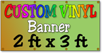 Custom Full Color Vinyl Banner 2ft x 3ft
