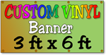 Custom Full Color Vinyl Banner 3ft x 6ft