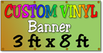 Custom Full Color Vinyl Banner 3ft x 8ft