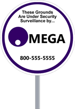 Wholesale Security Sign Circle Shape - Two Color